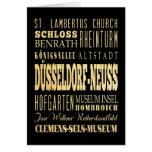 Düsseldorf-Neuss of Germany Typography Art Card