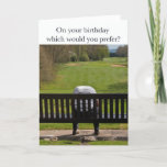 Bad day on the golf course birthday card