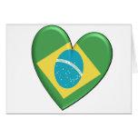 Brazil Heart Flag Card