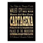 Cartagena City of Colombia Typography Art Card