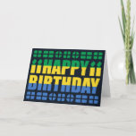 Gabon Flag Birthday Card