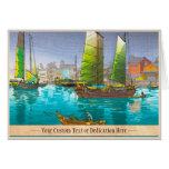 Seto Inland Sea Akashi Bay Sketches of Japan Card