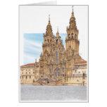 Santiago de Compostela. Western façade. Spain Card