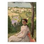View of the village, Castelnau, 1868 Card