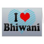 I Love Bhiwani, India Card