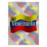 Venezuela Waving Flag Card