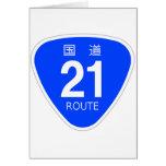 National highway 21 line - national highway sign card