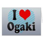 I Love Ogaki, Japan Card