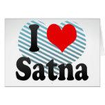 I Love Satna, India Card