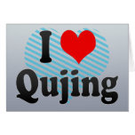I Love Qujing, China Card