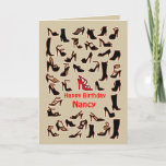 Nancy Shoes Happy Birthday Card