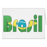 Brasil Flag T-shirt Card