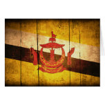 Old Wood Brunei Flag Card
