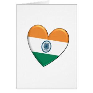 India Heart Flag Card