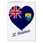 Saint Helena Flag Heart Card