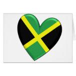 Jamaican Heart Flag Card