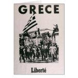 Greek Junda - Against Dictatorship Card