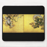 Fujin Raijin-zu (Picture of Wind and Thunder Gods) Mouse Pad