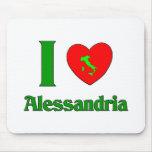 I Love Alessandria Italy Mouse Pad