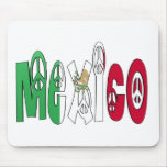 Mexico Peace Letters Mouse Pad