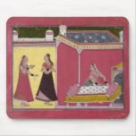 Preparing the Bed, Bilaspur, c.1690-1700 Mouse Pad