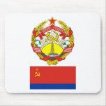 The arms and flag the Azerbaijan Soviet Socialist Mouse Pad
