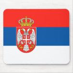 Serbian Flag Mouse Pad