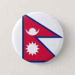 Nepal Flag Pinback Button