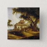 Ruins of the Naurattan, Sasaram, Bihar, 1811 (oil Pinback Button