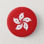 China Hong Kong Flag Pinback Button