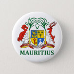 mauritius - emblem/flag/coat of arms/symbol pinback button
