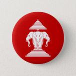 Erawan Three Headed Elephant Lao / Laos Flag Button