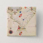 Map of South America and the Magellan Straits Button