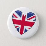 United Kingdom Heart Flag Button