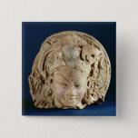 Head of Ardhanarisvara, Newal, Unnao (terracotta) Button