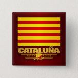 Flag of Cataluna (Catalonia) Pinback Button