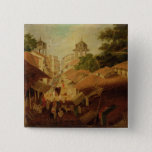 Street in Patna, c.1825 (oil on canvas) Pinback Button