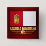 Castilla-La Mancha Flag Pinback Button