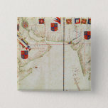 Map of Persia, Arabia and India Pinback Button