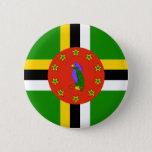 Dominica Flag Pinback Button