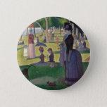 A Sunday on La Grande Jatte by Seurat Button