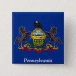 Flag of Pennsylvania Button