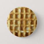 Waffle oil paint effect pinback button