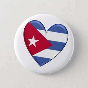 Cuba Heart Flag Button