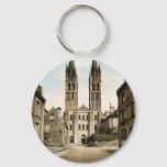 St. Etienne church, Caen, France classic Photochro Keychain