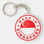 product country flag label made in singapore keychain