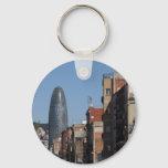 Carrer de Badajoz and Torre Agbar, Barcelona Keychain