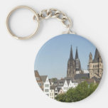 View of the city of Koeln (Cologne) in Germany Keychain