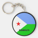 Djibouti Roundel quality Flag Keychain