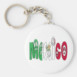 Mexico Peace Letters Keychain